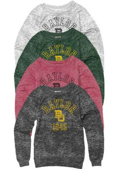 #Baylor Women's Crewneck Sweatshirt in four colors ($19.95 at Baylor Bookstore)