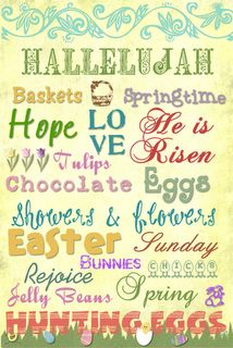 Great FREE PRINTABLES for Easter decorations