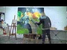 Démonstration de peinture abstraite par Jadis 4 - YouTube