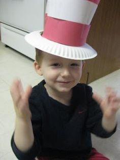 paper plate Dr. Seuss hat