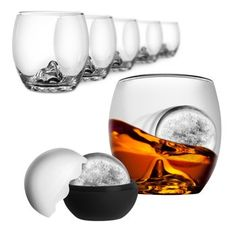 Costco: Final Touch® Set of 6 On The Rocks Glasses with Ice Molds