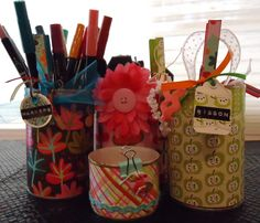 Guest Project: Pretty Upcycled Tin Can Storage ~ Madigan Made { simple DIY ideas }