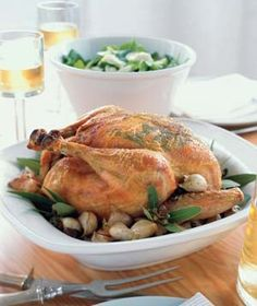 Garlic Roast Chicken Recipe