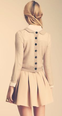 Orla Kiely mohair reversible jumper with buttoned back.