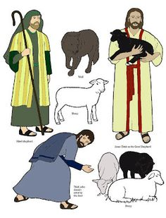The Good Shepherd visuals for Sunday School.