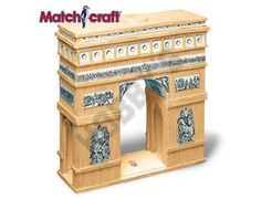 This Matchcraft Arc de Triomphe includes everything needed to make this matchstick model kit.  Included are all the pre-cut card formers along with the glue, matchticks and full instructions. These instructions will guide you through each stage of the construction until you finally achieve the finished product.  We would highly recommend this Matchcraft Arc de Triomphe .    Approx. size of finished model:  191mm high x 191mm wide x 64mm deep  292mm high
