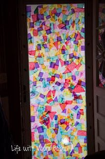 Tissue Paper Stained Glass Window