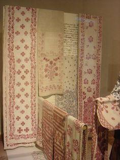 Ukrainian redwork embroidery