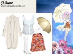 Like Sailor Moon Outfits on Facebook! Requested by:fairytalerabbit Wilfred Aysuna drapey trench in Silver Peony/ Birch Forever 21 garden skirt in Orange/Brown Forever 21 crochet trim top in Cream Totes gold Wedding Walker umbrella Smoothie patent knee-length boots in White