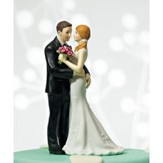 "Cheeky Couple Figurine ""My Main Squeeze"" Wedding Cake Toppers"
