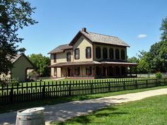 Farm house at Conner Prairie in Fishers Indiana
