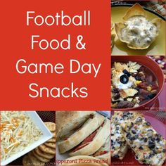 Mommy's Kitchen: Football Food & Snack Round Up {Because it's all about the food}