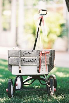 adorable wagon for the ring bearer