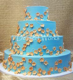 orange and blue wedding flowers - Google Search