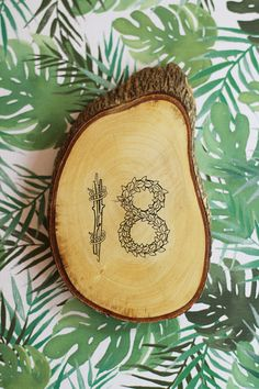 wood table number