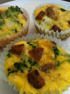 Paleo Diet Breakfast: Egg Muffins with Sausage and Broccoli