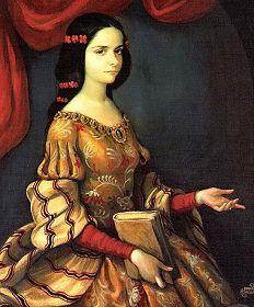 (12 November 1651 – 17 April 1695), full name Juana Inés de Asbaje y Ramírez de Santillana, was a self-taught scholar and poet of the Baroque school, and nun of New Spain. She lived in a colonial era when Mexico was part of the Spanish Empire. de la, mexico, sor juana, iné de, art, juana ine, portrait, juana iné, la cruz