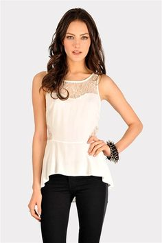 Nikki Lace Top - Ivory