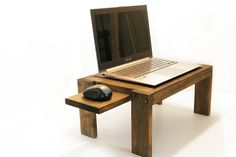 Bedside Laptop Table Wood Lap Desk Sofa Table End Table Laptop Stand Tablet Stand