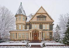Victorian in winter by Ken Zirkel on Flickr.