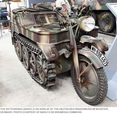 The Keetenkrad -WWII German motorcycle tank......meow!