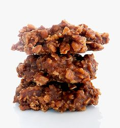 No-Bake Chocolate, Peanut Butter & Oatmeal Cookies