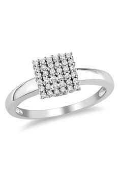 0.143 ct Diamond & Sterling Silver Ring