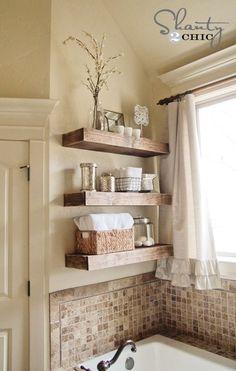 floating shelves, colors, bathtubs, tile, master bathrooms, bathroom ideas, master baths, bathroom shelves, guest bathrooms