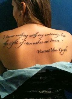 Unique Back #Tattoos For Girls 2014