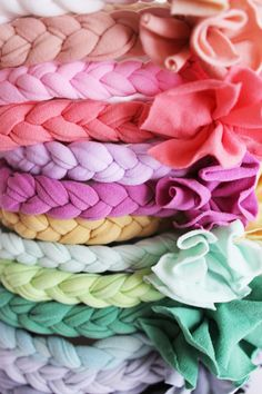 Love these boho baby headbands! Could probably make this with tights.