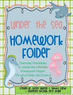 Make your own homework folder - Under the Sea