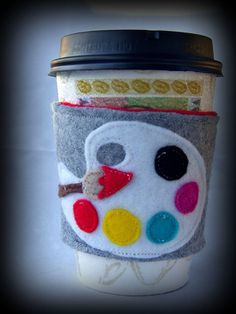 ART coffee cozy - LOVE!