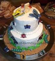 garden birthday, birthday parti, awesom cake, 1st bday, bug cake