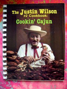 Image detail for -TV's Justin Wilson #2 (Number 2) Cookbook~~Cookin' Cajun Recipes 1986