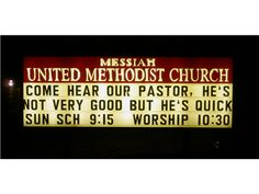 #Funny #Church Signs From #Facebook