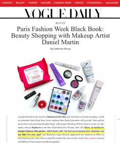 Vogue.com — Sampar's Glamour Shot (as recommended by makeup artist Daniel Martin).