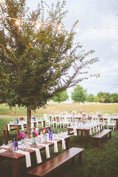backyard farm reception, photo by Paper Antler http://ruffledblog.com/jackson-meadow-wedding #wedding #reception #farmwedding