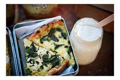 Frittata of Rice, Baby Zucchini & Feta + Fennel Pollen Yogurt  Sunday Suppers