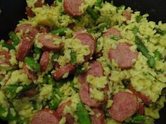 Sausage, Asparagus, and Yellow Rice Recipe! Colorful, and A Sneaky Way To Get Your Kids To Eat Their Veggies! » Frugal and Fun Mom/ Mom Blog...