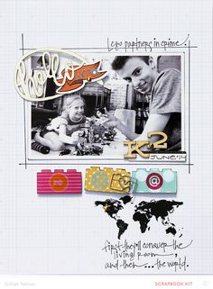 #papercraft #Scrapbook #layout.  and then…the world by just g at @studio_calico