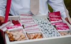 Baseball-themed party snacks.
