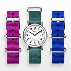 Timex Weekender Silver Tone Watch Set - UG0104YW - Women