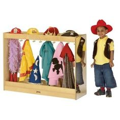 Dress up storage - I like that this one has hat storage above and some below