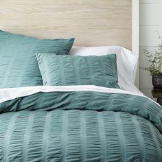 decor, seersuck duvet, beds, bedroom bedding, colors