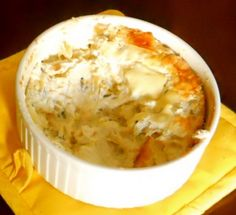 Cheesy Green Chili Artichoke Dip