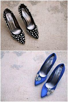 DIY Rhinestone Embellished Shoes