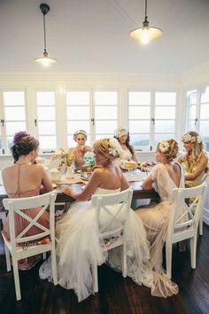 girls high trea party, dress code: wedding dresses,  soo wanna do this one day!