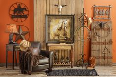 Western decor on pinterest for Cowboy living room decorating ideas