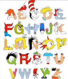 Dr. Seuss letter art