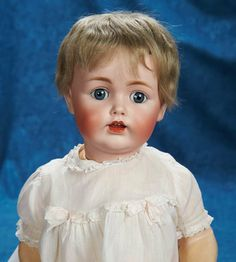 """Lot: 23"""" (58 cm.) German Bisque Character, 257, by Kestner with Original wig 400/600   Proxibid Auctions"""